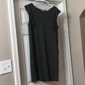 Grey T-shirt material dress